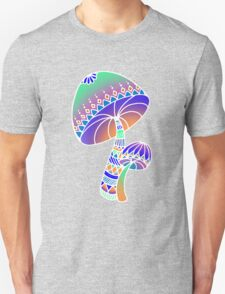 Shroom Inverted - blue/orange/green/purple T-Shirt