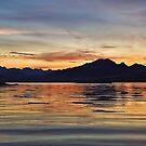 Sunset over the Black Cuillin's of Skye, Scotland. by David Alexander Elder