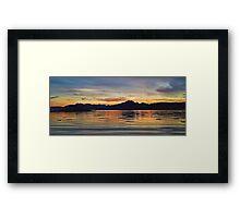 Sunset over the Black Cuillin's of Skye, Scotland. Framed Print