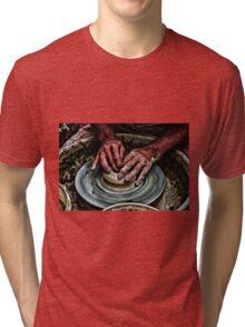 Hands of a potter  Tri-blend T-Shirt
