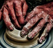 Hands of a potter  Sticker