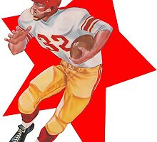Retro Football Player   by WRIGHTCARDCO