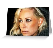 Blond Woman Greeting Card