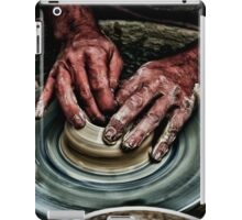 Hands of a potter  iPad Case/Skin