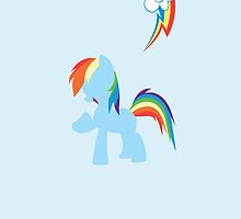 Simple Rainbow Dash iPhone/iPad Case by TehCrimzonColt