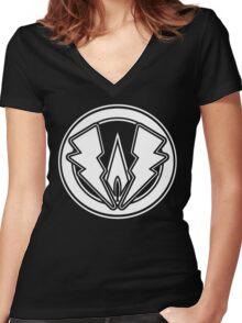 Joey Warner Black Lightning Women's Fitted V-Neck T-Shirt