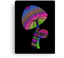 Shrooms - pink/blue/green/purple Canvas Print