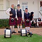 Redlands Sporting Club Pipe Band at Whepstead Manor Open Day by Vanessa Pike-Russell