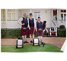 Redlands Sporting Club Pipe Band at Whepstead Manor Open Day Poster