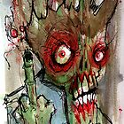 zombie gives the finger by byronrempel