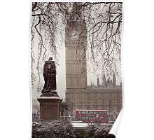 Snowy Big Ben Poster