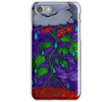 Rain Can't Stop the Flower Power iPhone Case/Skin