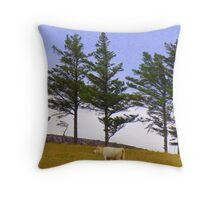 The Cow And The Lonesome Pines Throw Pillow