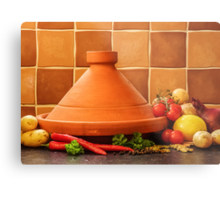Tagine With Vegetables Seeds Fruits And Spices Metal Print