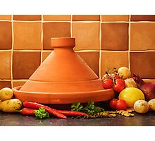Tagine With Vegetables Seeds Fruits And Spices Photographic Print