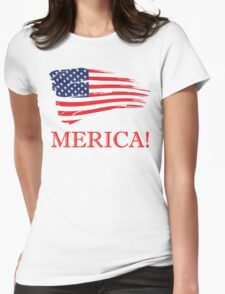 MERICA! Womens Fitted T-Shirt