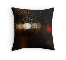 Abstract colourful lights Throw Pillow