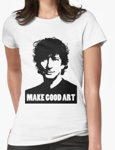 Make Good Art Womens Fitted T-Shirt