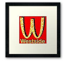 Westside Burgers Framed Print