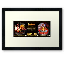 Gemini Cancer zodiac Cusp is approximately from dates June 16 to June 26 and is ruled by both Mercury and the Moon with the elements of air and water. Framed Print