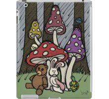 Teddy Bear And Bunny - Rainy Day Blues iPad Case/Skin
