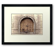 Chinese Bike and Door, 2nd study Framed Print