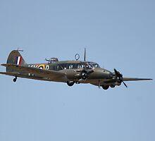 Avro Anson in flight by wgtonlifeart