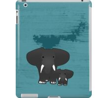 Elephant with a baby iPad Case/Skin