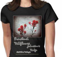 paintbrush wildflowers, Johnston's Ridge 3 Womens Fitted T-Shirt