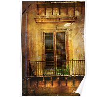 Shuttered door in Palermo Poster