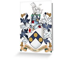 "James Bonds coat-of-arms and family motto ""The world is not enough""  Greeting Card"