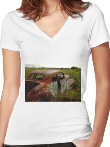 Newkirk Classic Women's Fitted V-Neck T-Shirt
