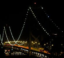 Bay Bridge Evening by David Denny