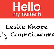 Leslie Knope Name Tag Print by emrapper