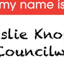 Leslie Knope Name Tag Print Sticker