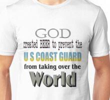 God, Beer & the U. S. Coast Guard Unisex T-Shirt
