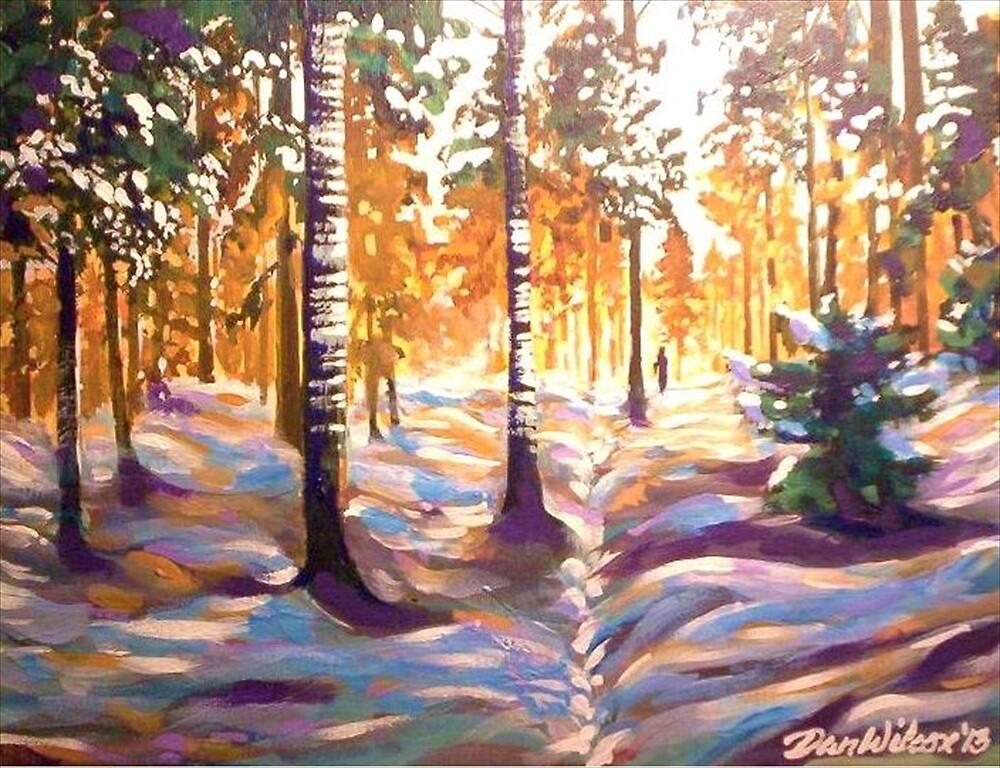 Walk in the Winter Woods by Dan Wilcox