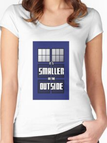 It's Smaller on the Outside Women's Fitted Scoop T-Shirt