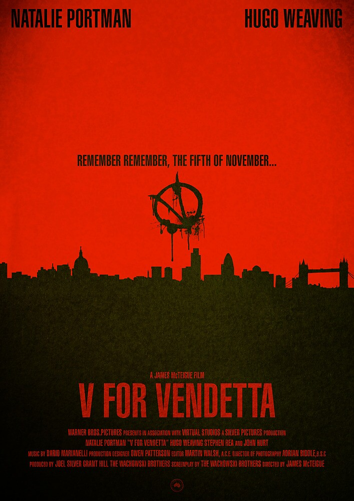 "Movie Poster - ""V for VENDETTA"" by Mark Hyland"