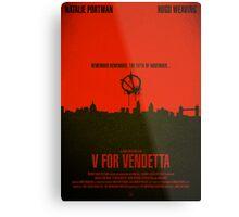 "Movie Poster - ""V for VENDETTA"" Metal Print"