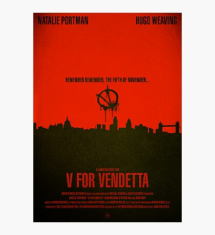 "Movie Poster - ""V for VENDETTA"" Photographic Print"
