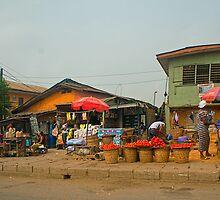 Street Shops  Lagos 1 by Warren. A. Williams