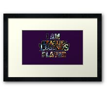 league of legends Framed Print