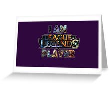 league of legends Greeting Card