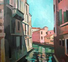Venetian Cityscape - Canal by Filip Mihail