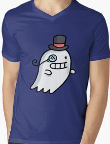 Ghost Dude Mens V-Neck T-Shirt