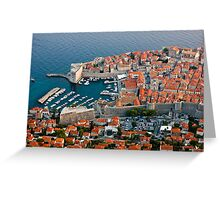Old Harbor of Dubrovnik in Croatia Greeting Card