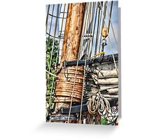 Privateer LYNX mast and rigging Greeting Card