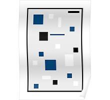 Cube Dot Blue Poster