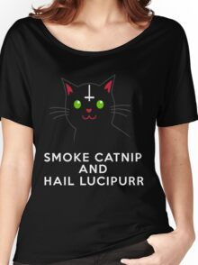 Smoke catnip and hail Lucipurr Women's Relaxed Fit T-Shirt